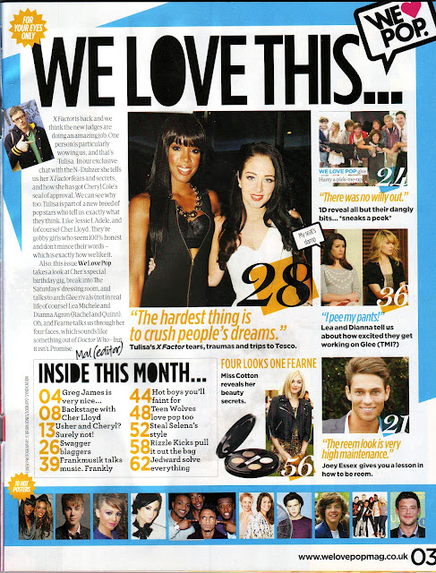 we love pop magazine contents page these are contents pages from ...