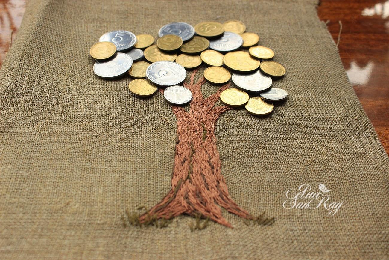 денежное дерево, копеечное дерево, подарок для дома, талисман, хороший подарок, украшение  для интерьера, дерево талисман,