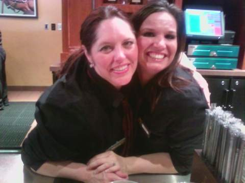 Two great bartenders in Silks...Angie and Christie