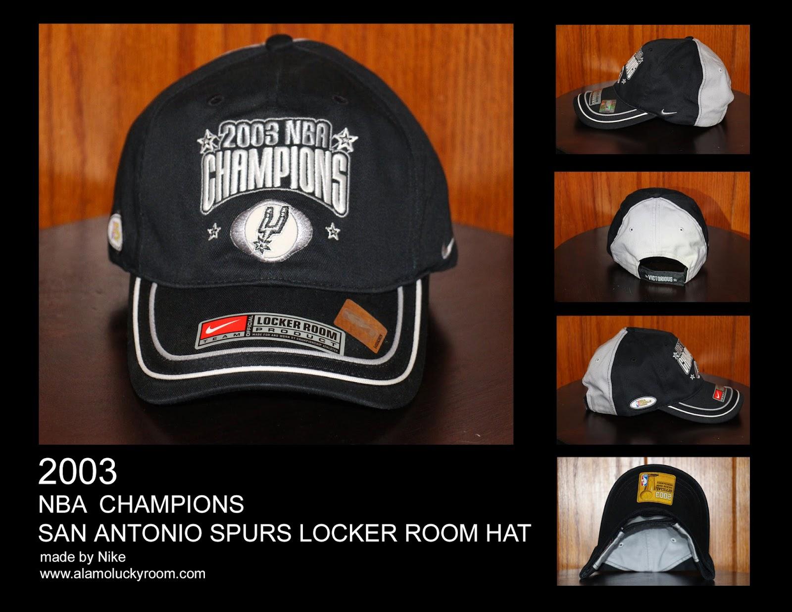 Alamo Lucky Room: 2003 San Antonio Spurs NBA Champions Locker Room Hat