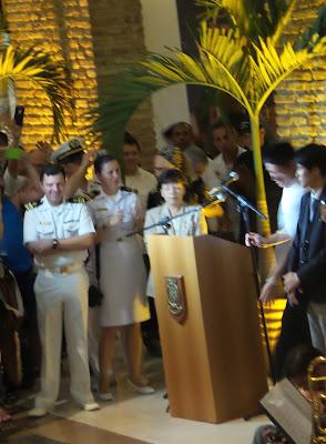 120 anos do Tratado de Amizade, Comércio e Navegação entre o Japão e o Brasil; SHOPPING PAÇO ALFÂNDEGA; Esquadra de Treinamento da Força de Autodefesa Marítima  do Japão; consul do Japão Hitomi Sekiguchi;