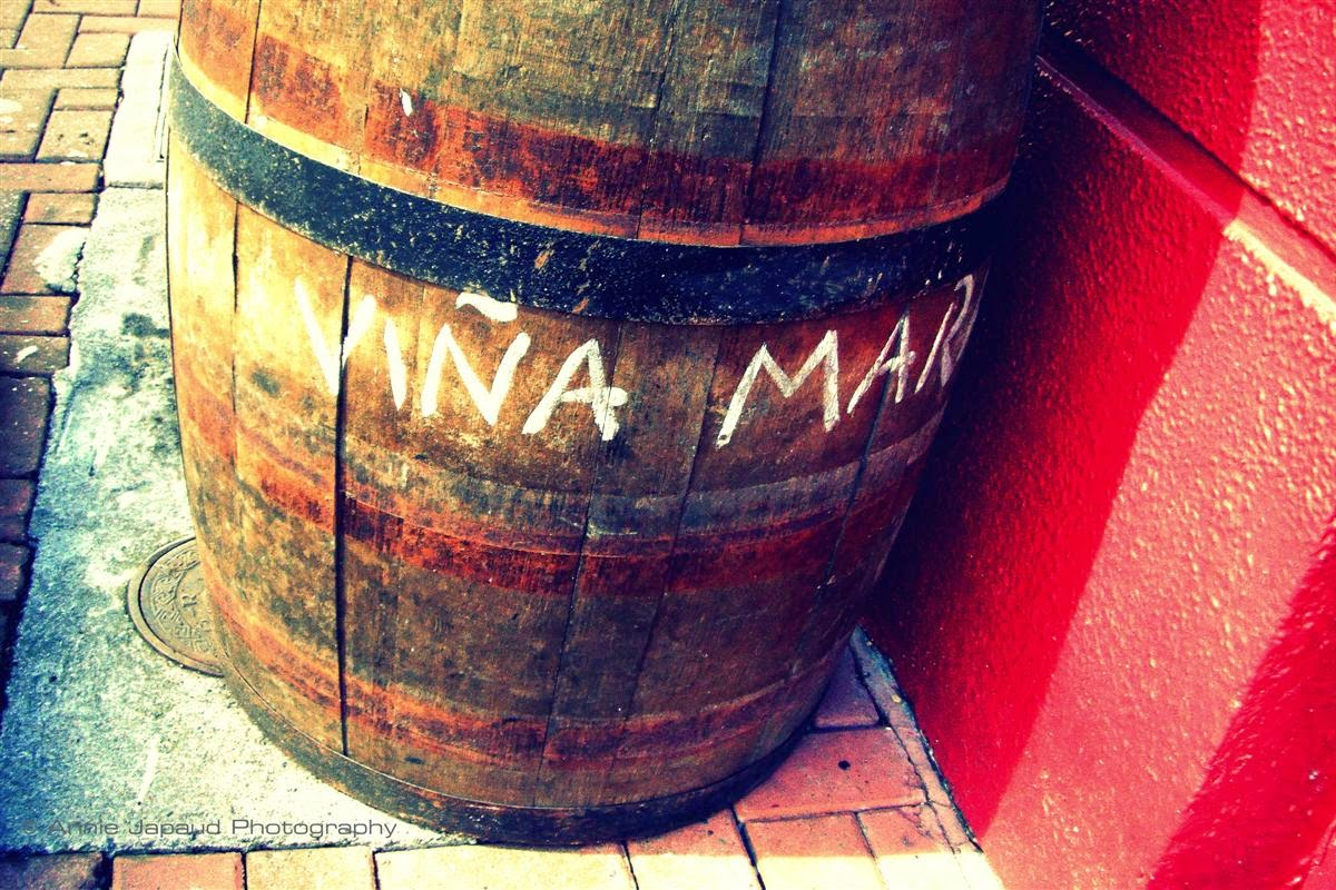 wine barrel on the street of Galway city