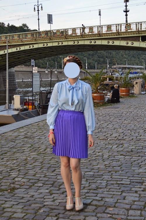 ootf, outfit, blue, violet, pastels, mbpfw, fashion week, vintage