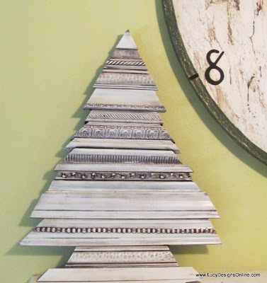 recycled picture frame molding scrap tree decoration