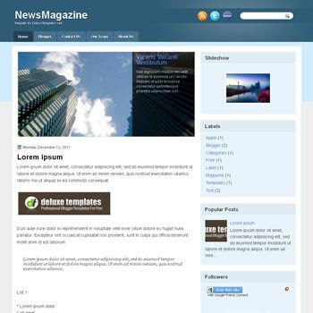 NewsMagazine blogger template. template blogspot magazine style. download template news blogger template