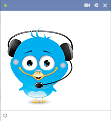 Icon bird with headset