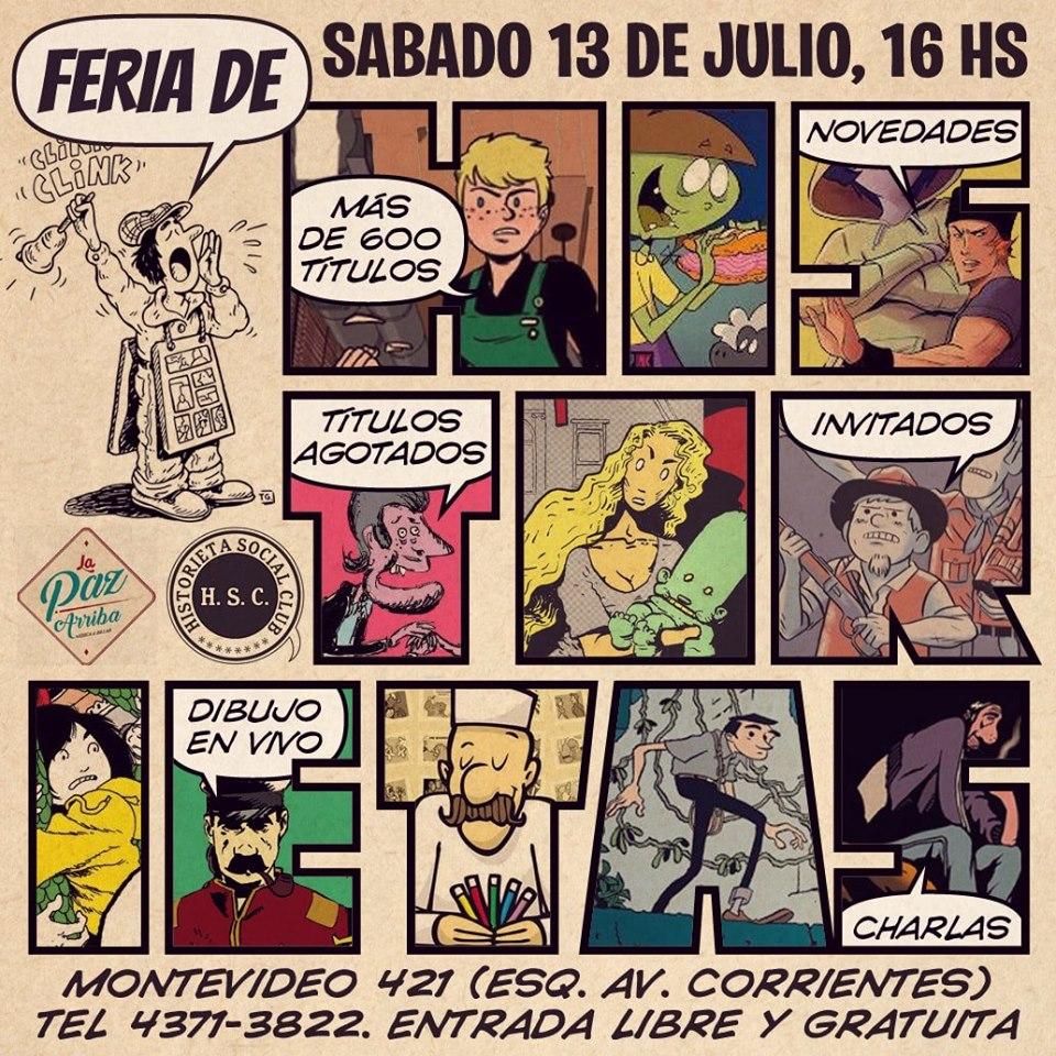 LA PAZ ARRIBA. Feria de Historietas. Montevideo 421, CABA