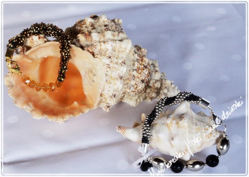 bransoletki z koralikow robione na szydełku, bracelets bead, beading