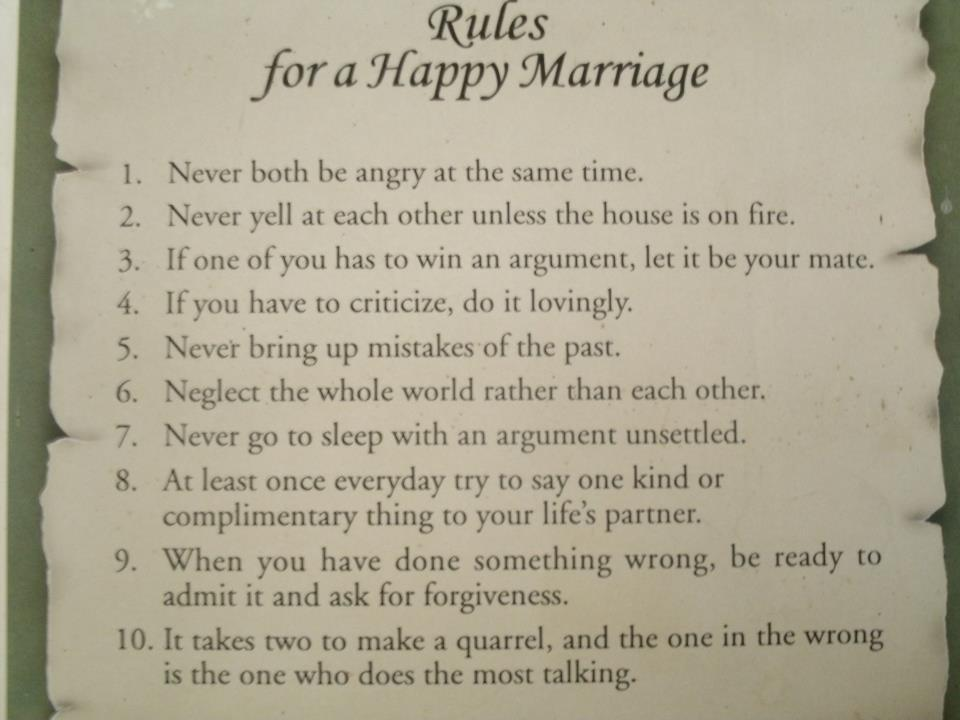 Rules For A Happy Marriage The Fun Learning