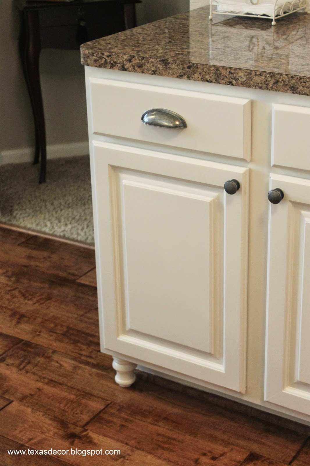 adding furniture legs to kitchen cabinets
