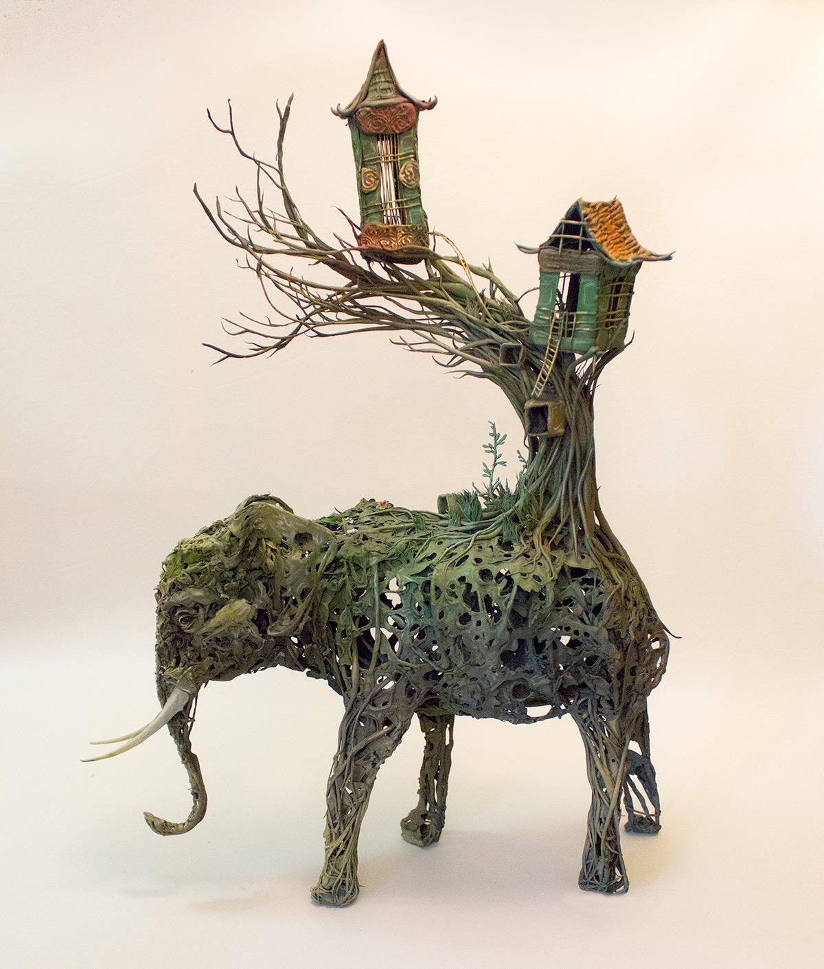 elefante-casa-sculture-surrealiste-ellen-jewett
