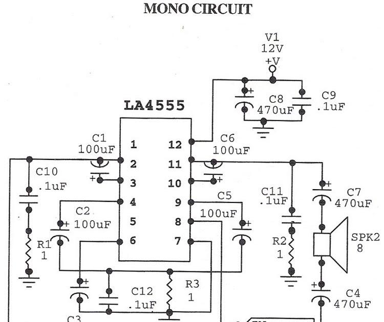 world technical  audio amplifier la4555