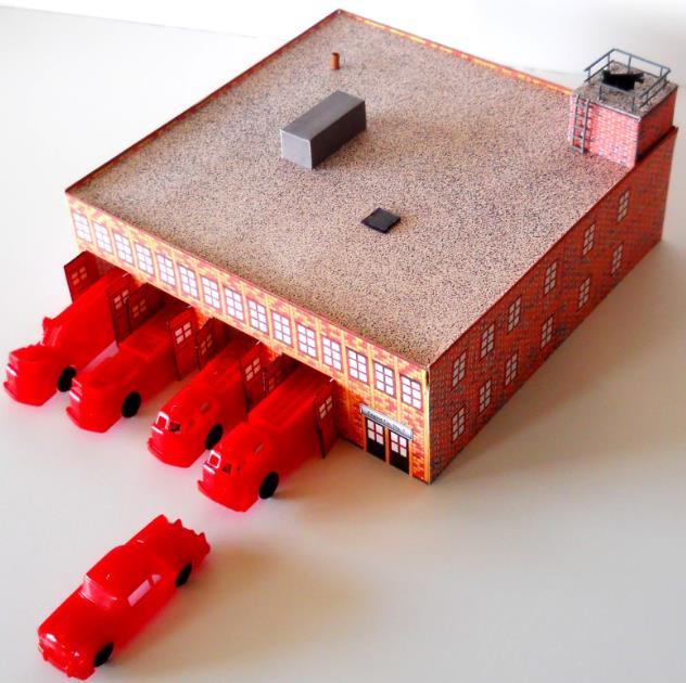 House model fire