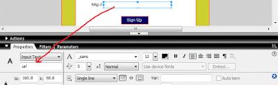 "Klik pada kolom pengisian URL atau kolom input text. isi instance name nya menjadi ""url"". seperti gambar dibawah ini."