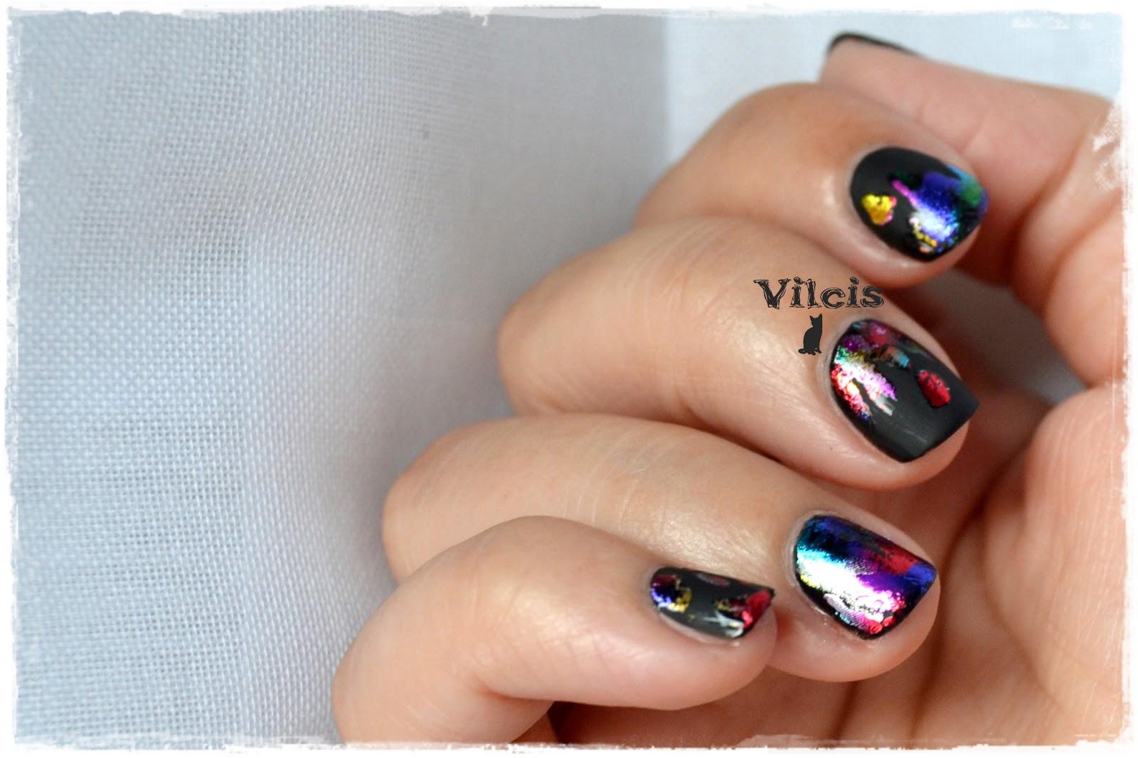 Vilcis nail designs: Reto ABC de las uñas - con F de FOIL (papel de ...