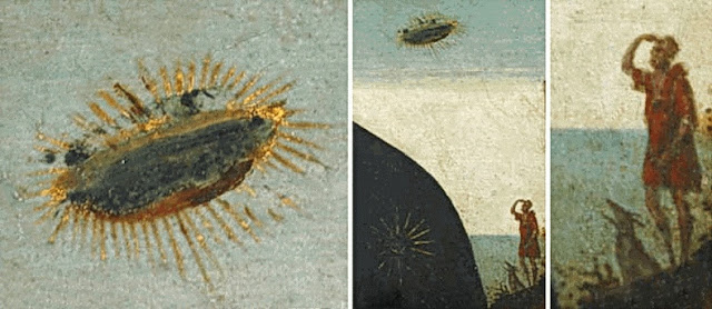 Detalle Ovni Madonna con niño palacio Vecchio