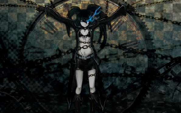 black rock shooter chain anime girl hd wallpaper