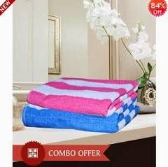 HandloomWala Men & Women King Size Bath Towel Combo just for Rs.208 Only Including Shipping Charges at Shopclues