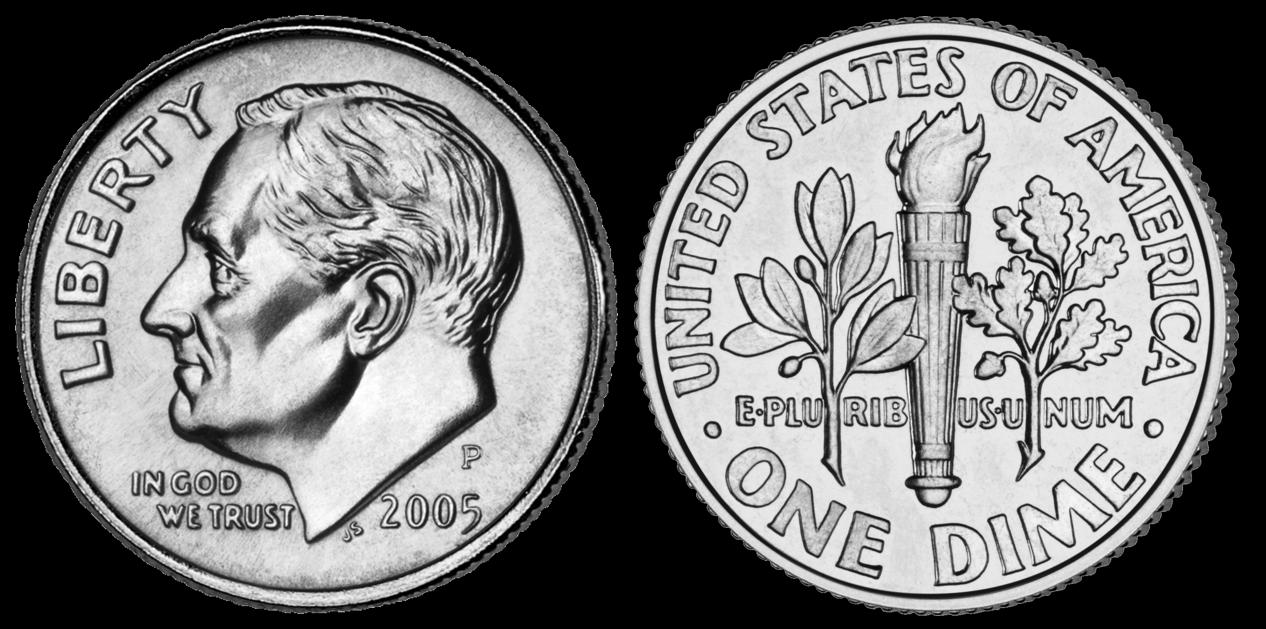 roosevelt dime USA Coins Clip Art Token Clip Art
