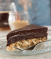 Something Sweet: Chocolate Mousse Cake on Hazelnut Crust - Gluten Free