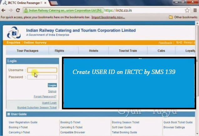 irctc userid registration