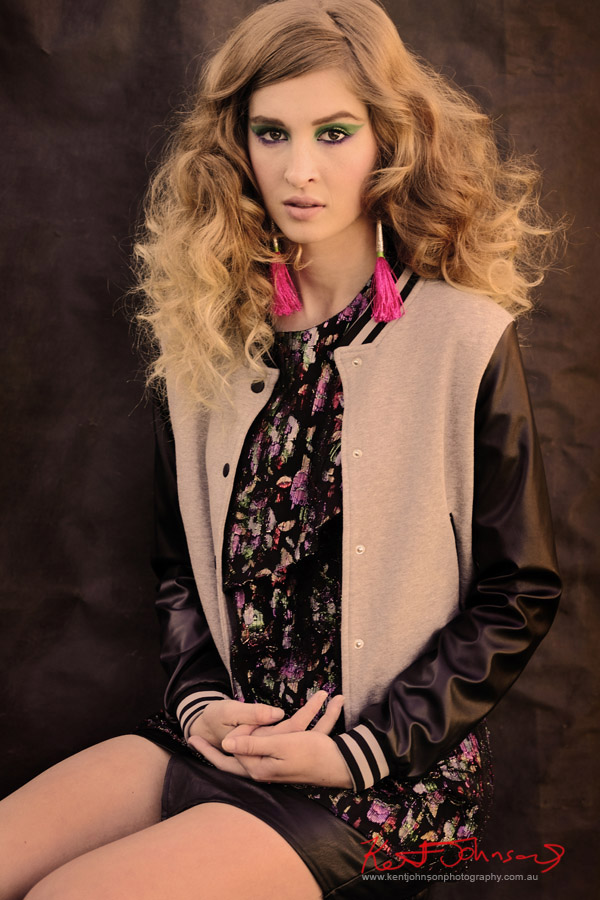 Fashion Portrait / Editorial - Aiyana - St frock boyfriend jacket, skirt - Stylists own top & earrings. Stylist  Briana Catherine Wall, H&MU Nikita Lauren