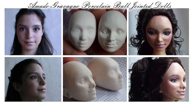 muñecas de porcelana bailarina retrato quince años