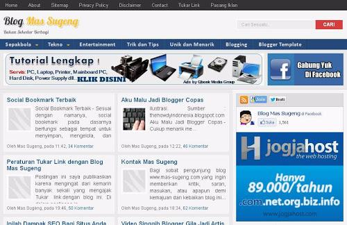 Mas Sugeng Template Blogger Premium Gratis