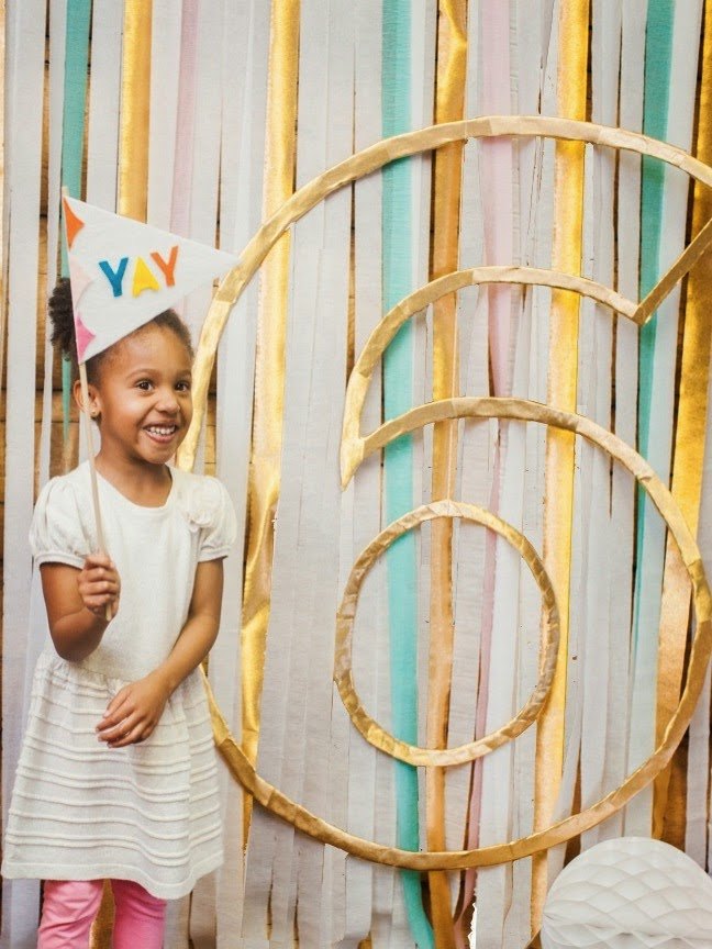 DIY Birthday Number Outline Photo Booth Backdrop | Shauna Younge (pics: Sydnee Bickett)