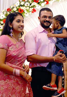 Actor Jayasurya Family Photo