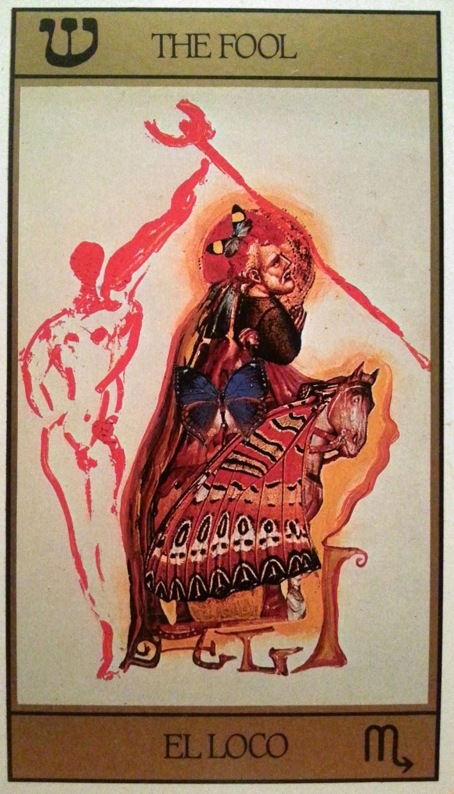 El Loco. Tarot de Dalí