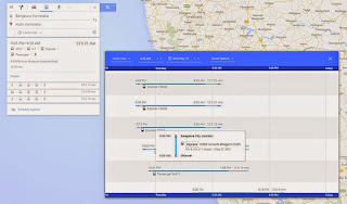 Trains route and schedule for Indian Railways on Google Map