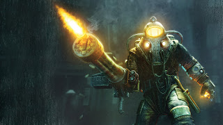 Bioshock video game Playstation 3 Xbox 360 shooting gun