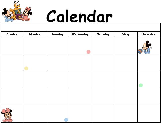 Free Mickey Mouse Printable 2016 Calendar | Calendar Template 2016