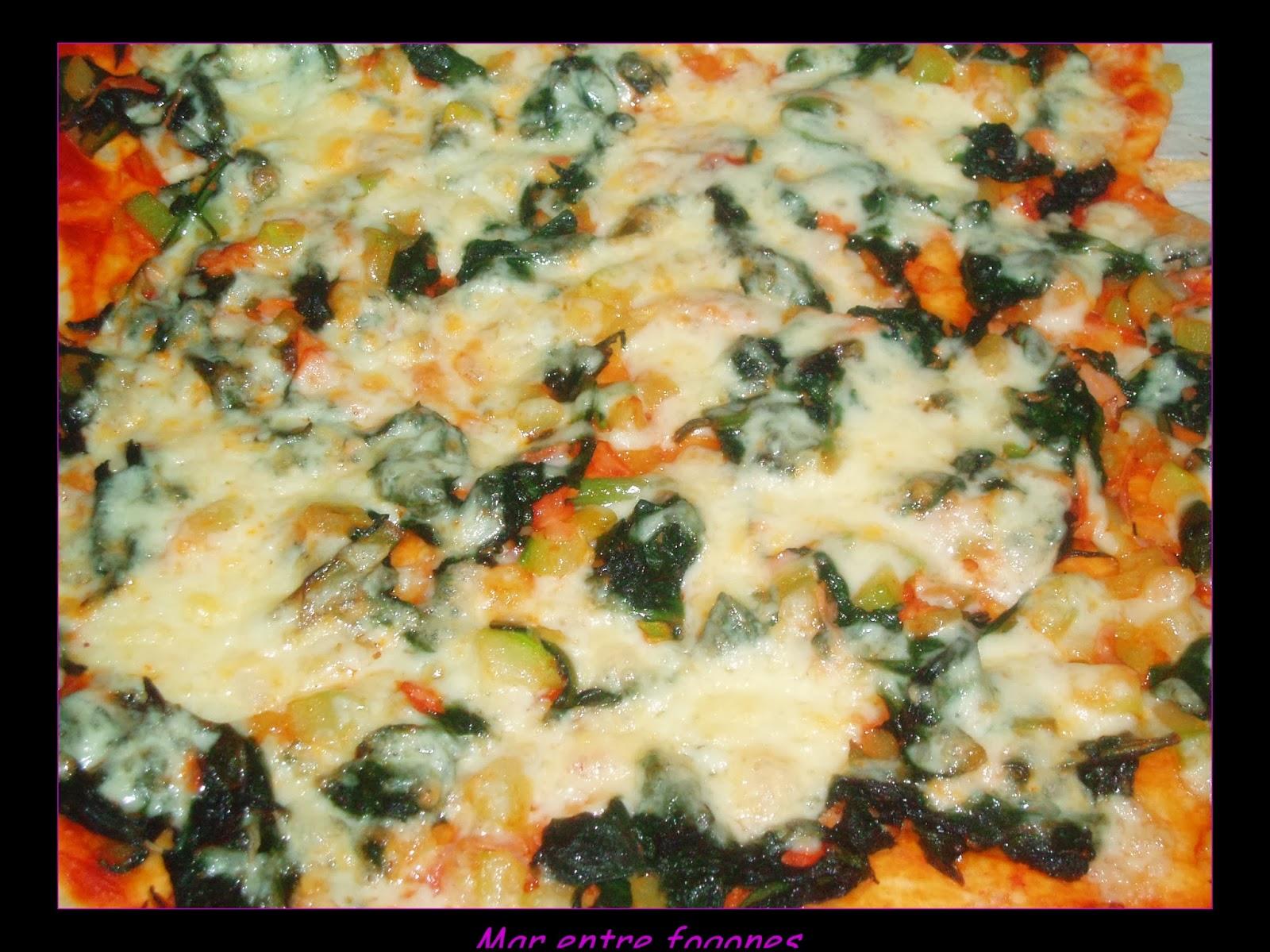 PIZZA DE ACELGAS  Y CALABACÍN