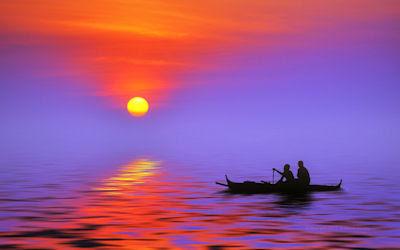 Atardecer junto al lago de los pescadores - Sunset