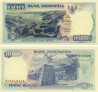Uang Rp 1000,00 Tahun 1992
