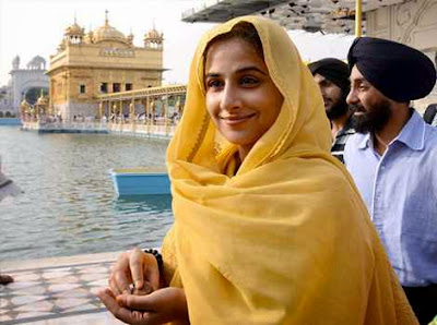 Vidya Balan at the Golden Temple