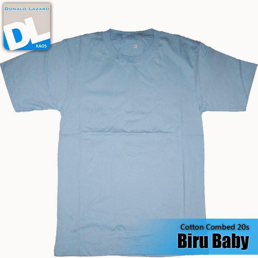 Sablon Warna Kaos Biru Baby
