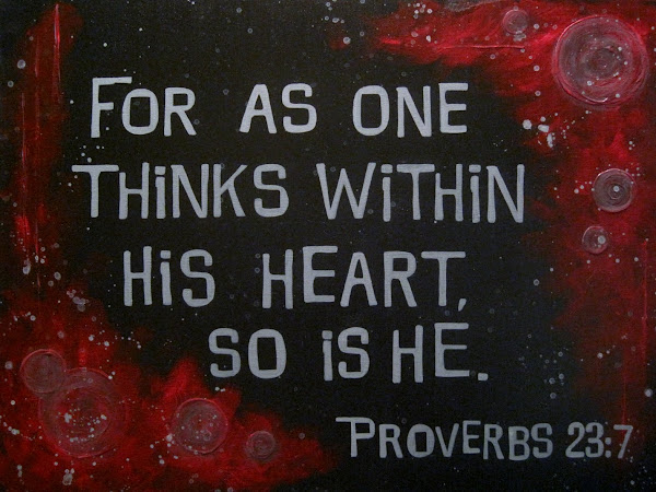 Weekly Proverb: You Are What You Think (Proverbs 23:7)