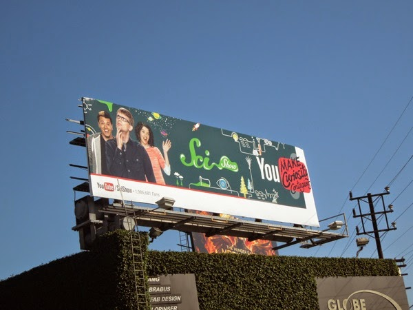 Sci Show You Tube billboard