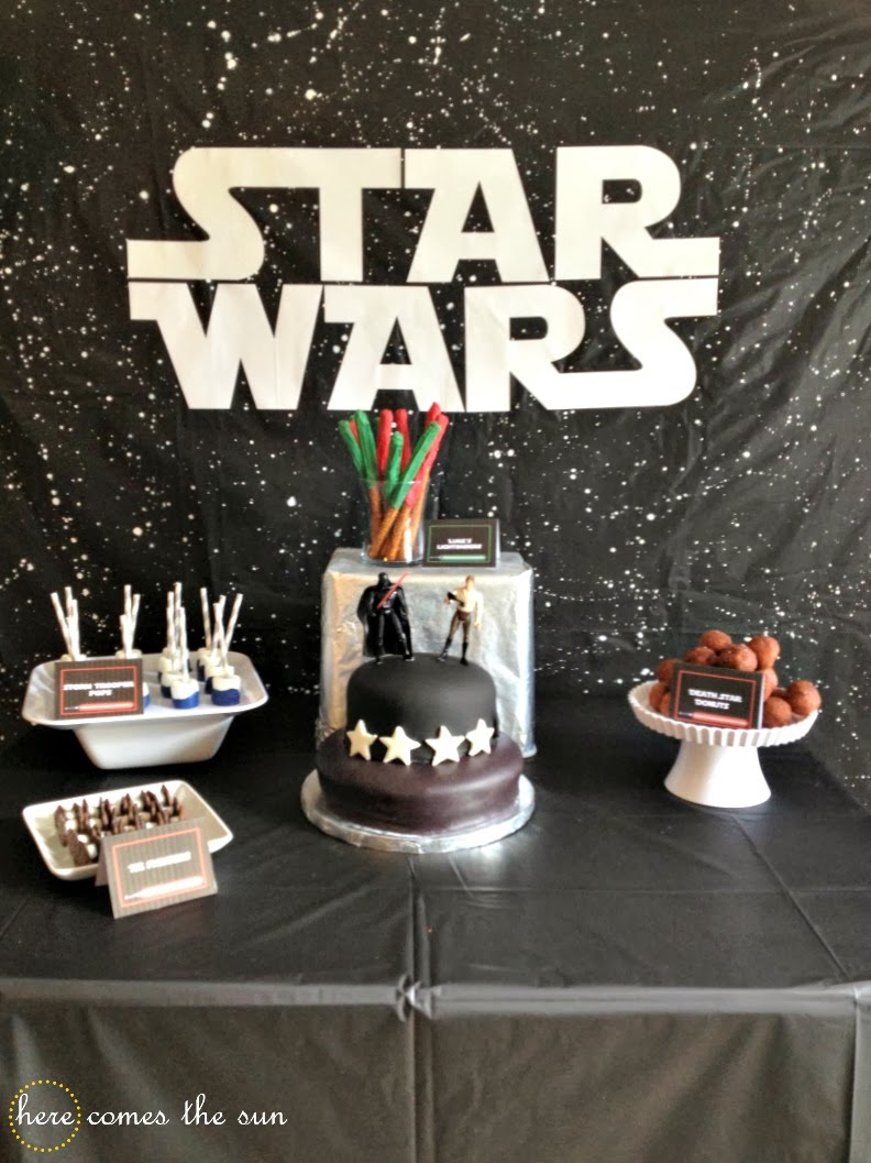 Star Wars Party Via Herecomesthesunblog