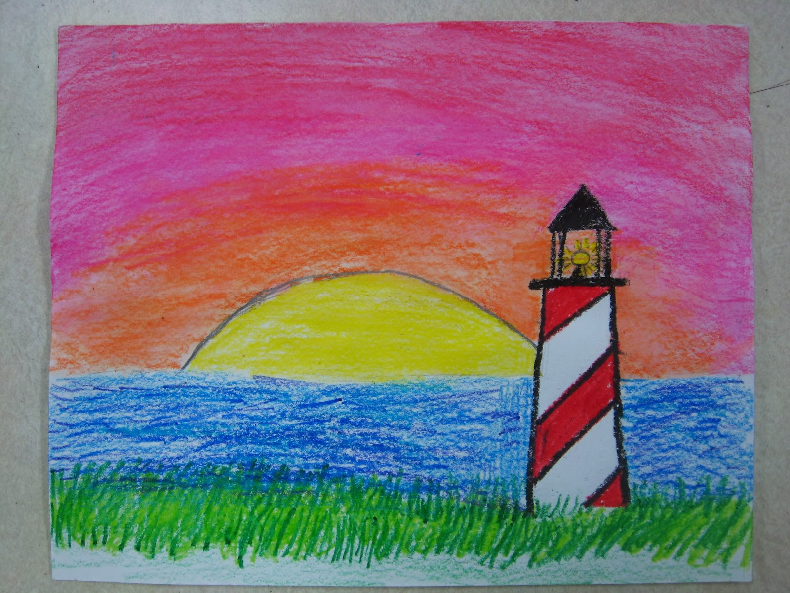 Miss Youngs Art Room 4th And 5th Grade Lighthouses