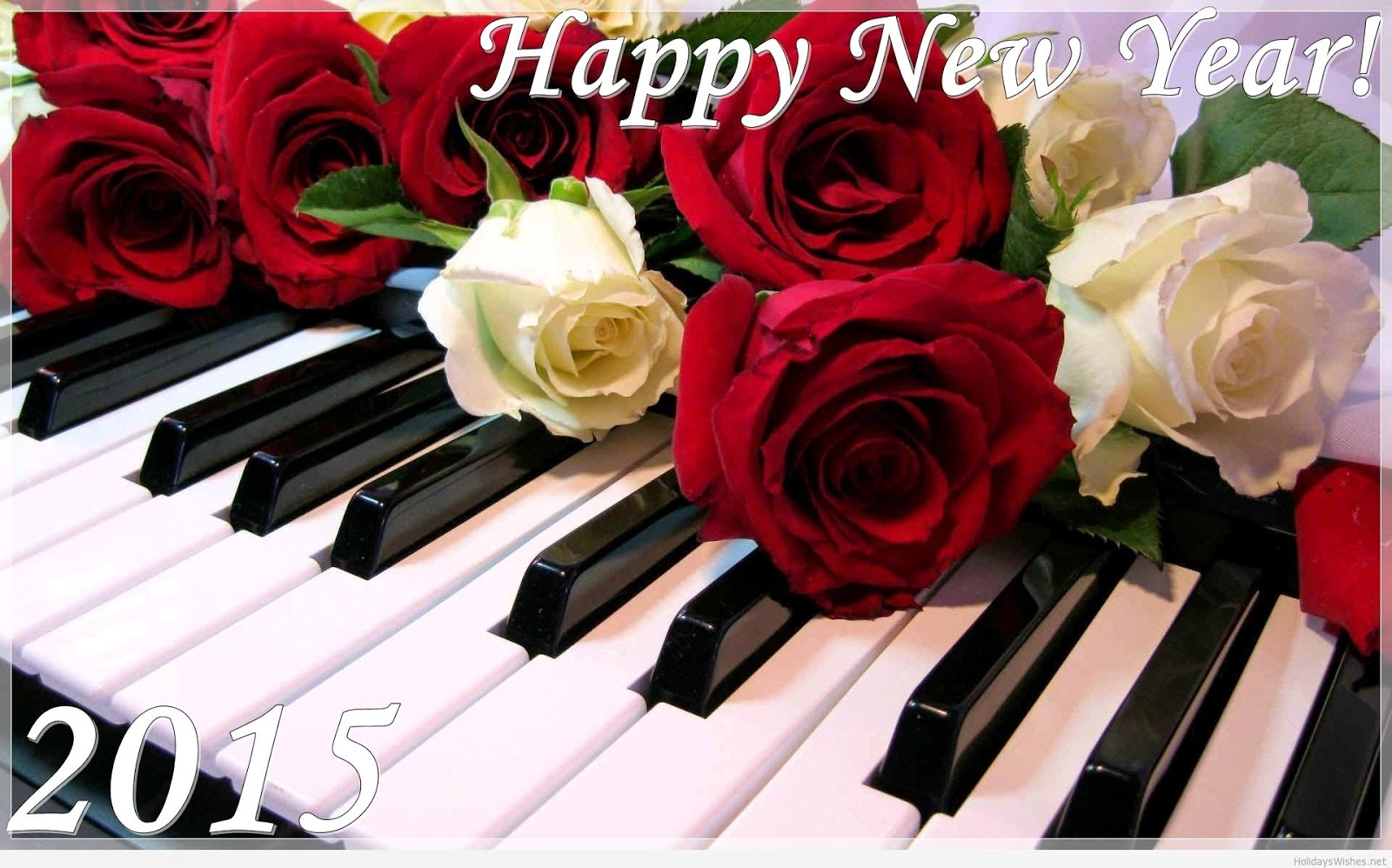 Top Class Of Happy New Year 2015 Cards - Rose Wallpaper