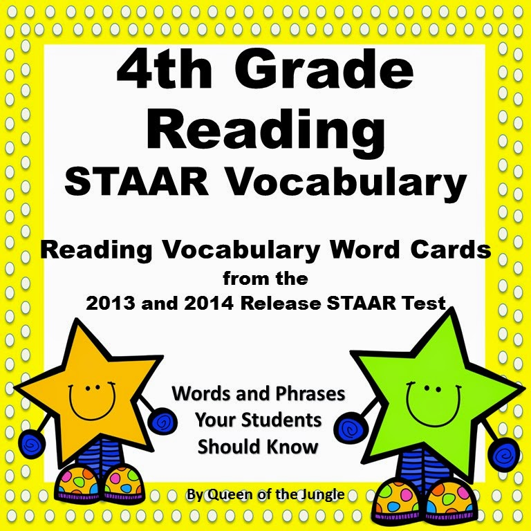 https://www.teacherspayteachers.com/Product/STAAR-Reading-Vocabulary-4th-Grade-1680723
