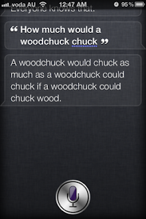 Siri: How much would a woodchuck chuck?