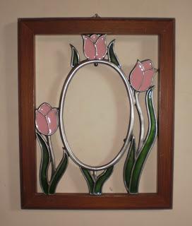Bingkai motif bunga Tulip