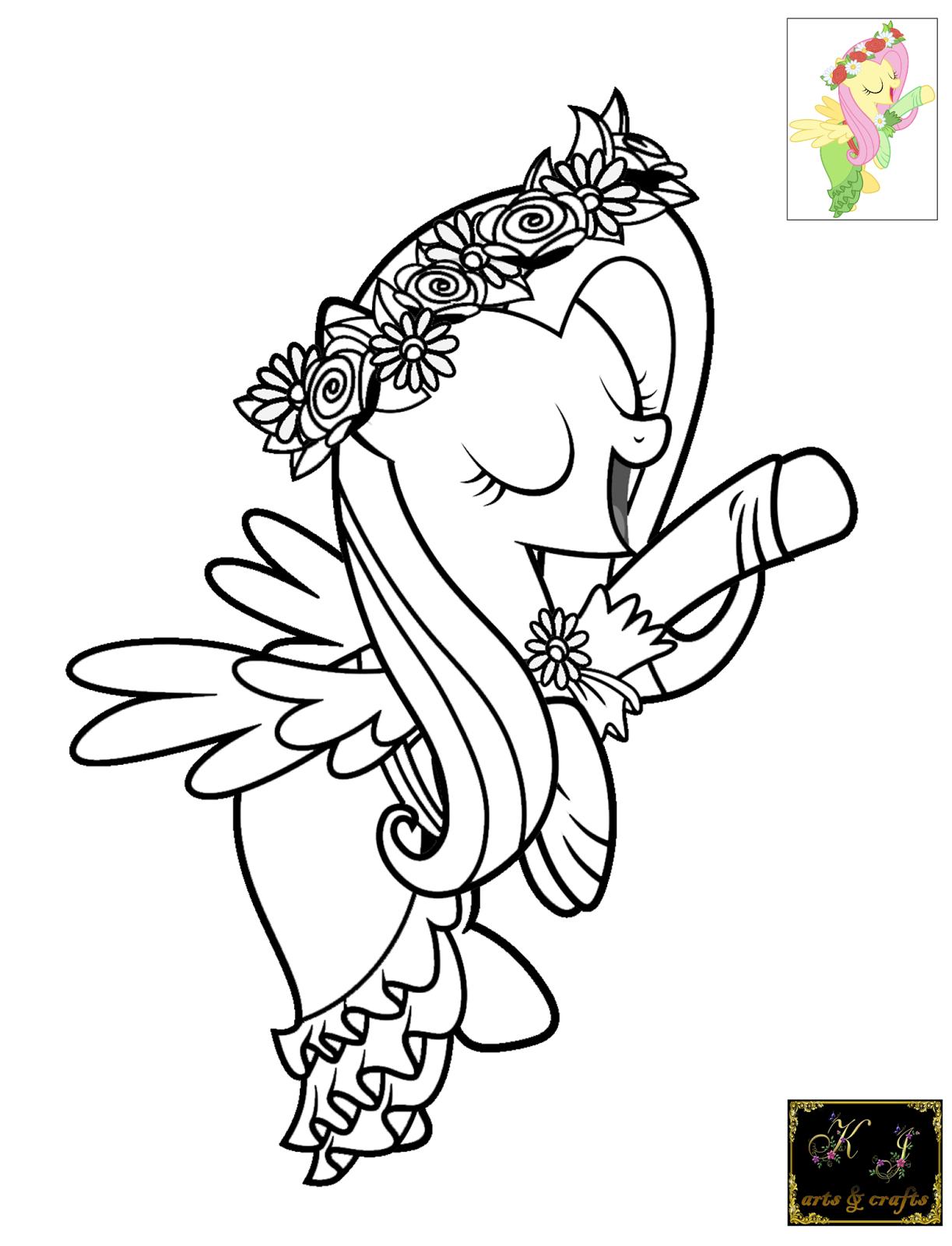 KJ Coloring Pages: Fluttershy