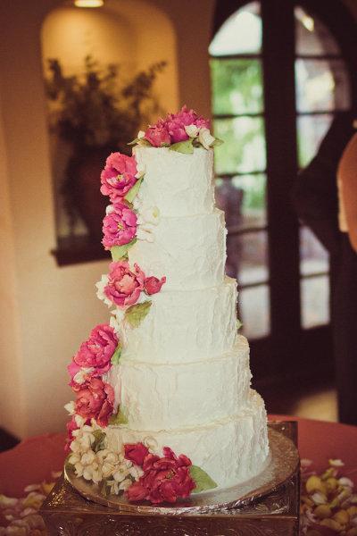 украшение торт с пионами