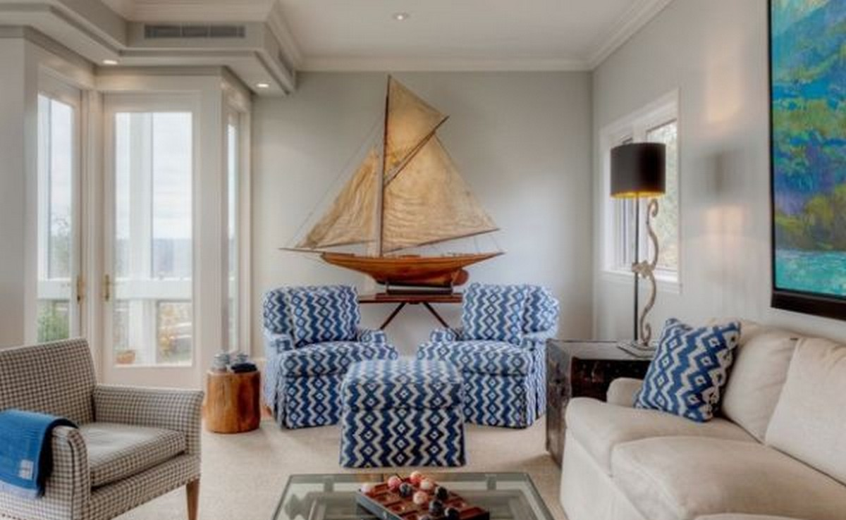 Combining some of the nautical decor elements and ship for Model home decorating ideas